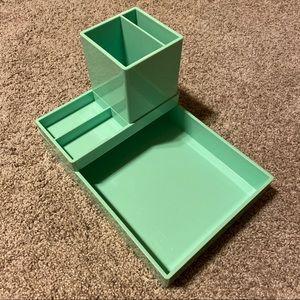 Poppin Desk Set  - Mint